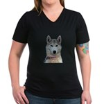 Athena Women's V-Neck Dark T-Shirt