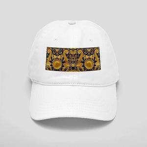 gold black antique pattern Cap