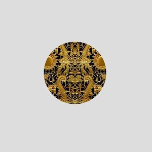 gold black antique pattern Mini Button