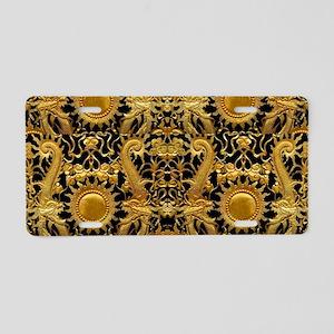 gold black antique pattern Aluminum License Plate
