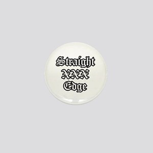 Straightedge Mini Button