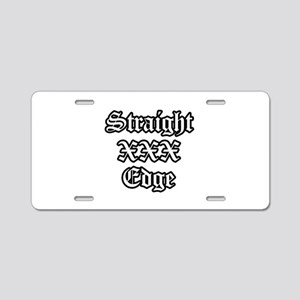 Straightedge Aluminum License Plate