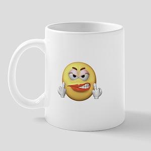 Smiley Giving the Finger Mug