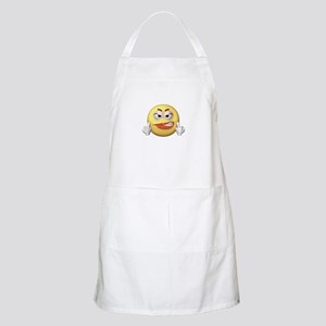 Smiley Giving the Finger BBQ Apron
