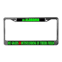Alabama Goats License Plate Frame