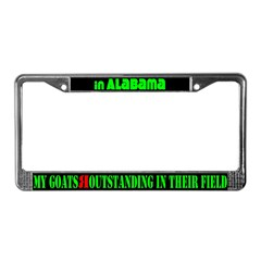 Alabama Goats License Plate Frame