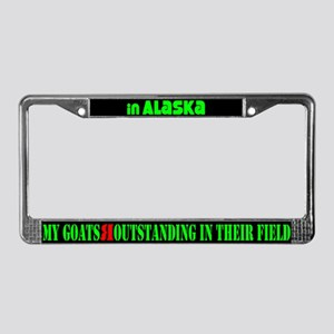 Alaska Goats License Plate Frame
