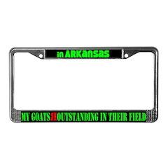 Arkansas Goats License Plate Frame