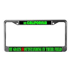 California Goats License Plate Frame
