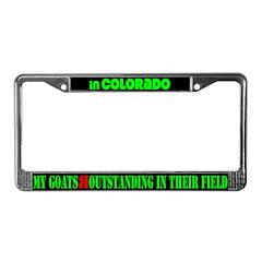 Colorado Goats License Plate Frame