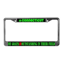 Connecticut Goats License Plate Frame