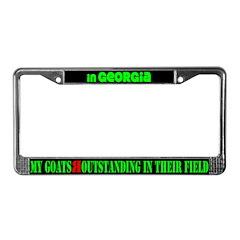 Georgia Goats License Plate Frame