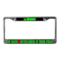 Idaho Goats License Plate Frame