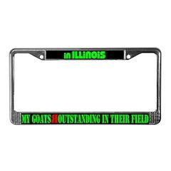 Illinois Goats License Plate Frame