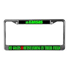 Kansas Goats License Plate Frame