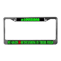 Louisiana Goats License Plate Frame