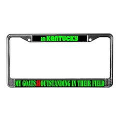 Kentucky GoatsLicense Plate Frame