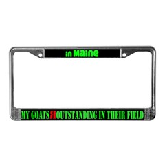 Maine Goats License Plate Frame