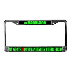 Maryland Goats License Plate Frame