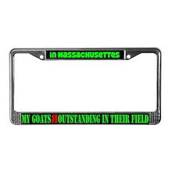 Massachusettes Goats License Plate Frame
