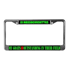 Massachusettes Goats License Plate Frame