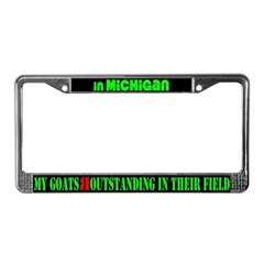 Michigan GoatsLicense Plate Frame