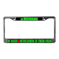 Michigan GoatsLicense Plate Frame
