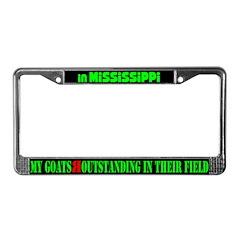 Mississippi Goats License Plate Frame