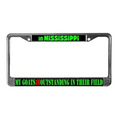 Mississippi Goats License Plate Frame