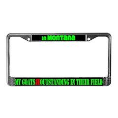 Montana Goats License Plate Frame
