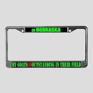 Nebraska Goats License Plate Frame