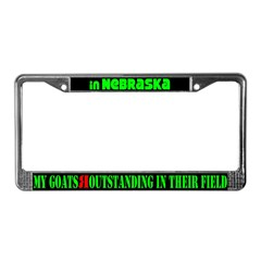 Nebraska Goats License Plate Frame