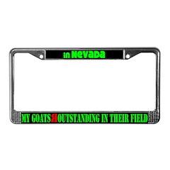 Nevada Goats License Plate Frame