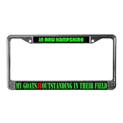 New Hampshire Goats License Plate Frame