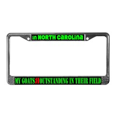North Carolina Goats License Plate Frame