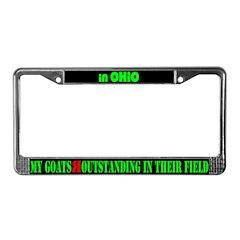 Ohio Goats License Plate Frame
