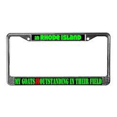 Rhode Island Goats License Plate Frame
