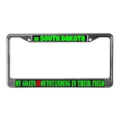 S Dakota Goats License Plate Frame