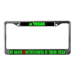 Texas Goats License Plate Frame