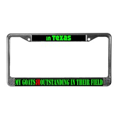 Texas Goats License Plate Frame