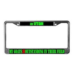 Utah Goats License Plate Frame