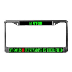 Utah Goats License Plate Frame