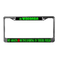 Wisconsin Goats License Plate Frame