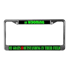 Wyoming Goats License Plate Frame