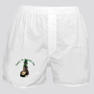 St Patrick's Day Meerkat with Shamroc Boxer Shorts