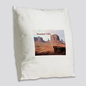 Monument Valley, John Ford's P Burlap Throw Pillow