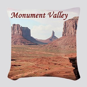 Monument Valley, John Ford's P Woven Throw Pillow