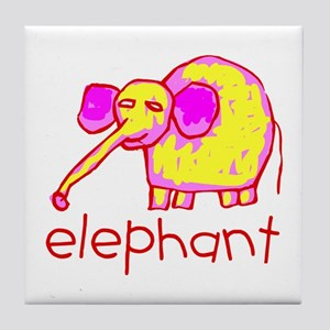 Kid Art Elephant Tile Coaster