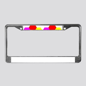 rainbow grid pattern License Plate Frame