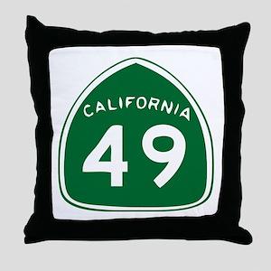 CAL 49 Throw Pillow